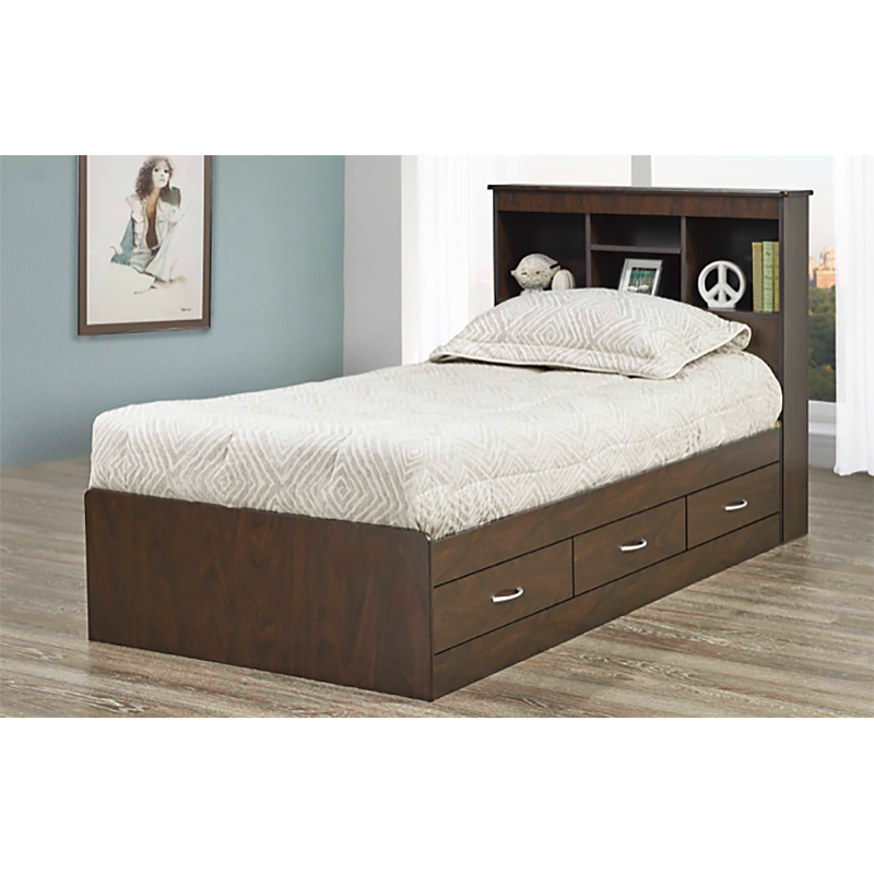 Single Mates Bed With Bookcase, Queen Mates Bed